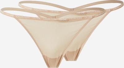 Calvin Klein Underwear String en nude, Vue avec produit