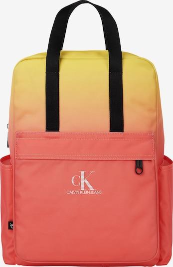 Calvin Klein Jeans Sac à dos en jaune / orange / noir, Vue avec produit