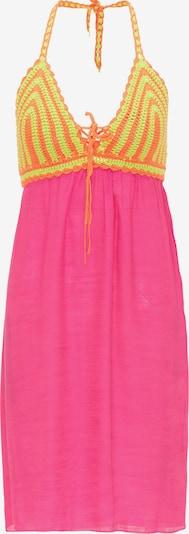 MYMO Kleid in hellgrün / orange / neonpink, Produktansicht