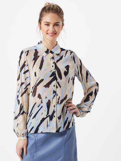 InWear Blouse 'Florizza' in beige / light blue / black, View model
