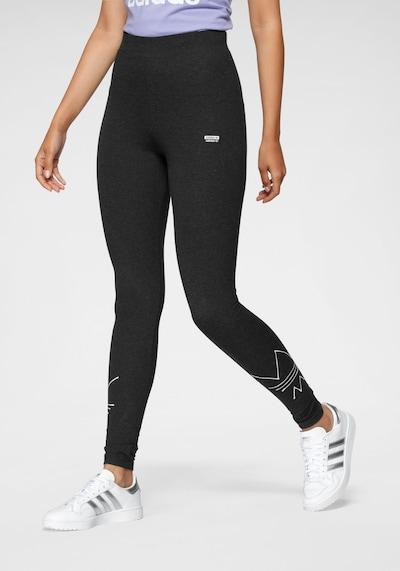 fekete melír / fehér ADIDAS ORIGINALS Leggings, Modell nézet