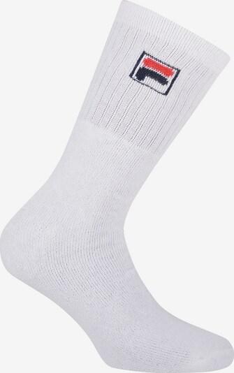FILA Sportsokken in de kleur Donkerblauw / Rood / Wit, Productweergave