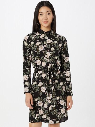 VERO MODA Kleid 'Saga' in oliv / rosa / schwarz / weiß, Modelansicht