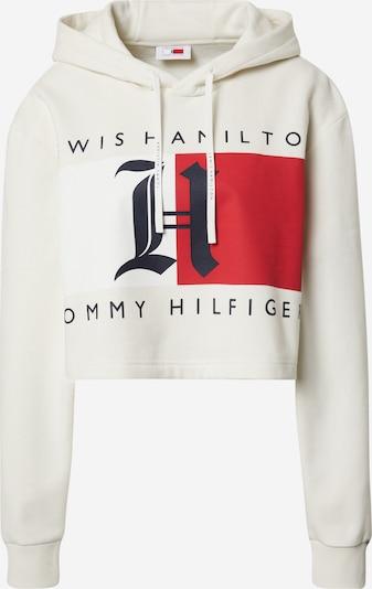 TOMMY HILFIGER Sweatshirt 'Lewis Hamilton' in de kleur Ivoor / Navy / Rood, Productweergave