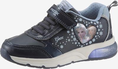 GEOX Kids Sneaker in navy / hellblau / silber, Produktansicht