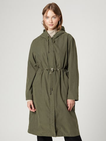 Guido Maria Kretschmer Collection Between-Seasons Coat 'Jessie' in Green