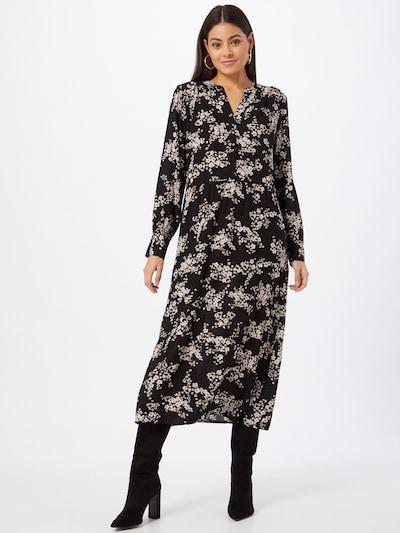 STREET ONE Kleid in beige / braun / schwarz, Modelansicht