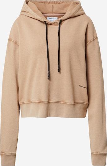 REPLAY Sweatshirt in hellbraun / schwarz, Produktansicht