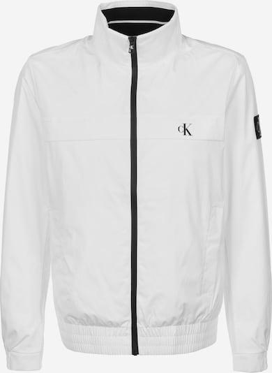 Calvin Klein Jeans Tussenjas ' Zip Up Harrington ' in de kleur Wit, Productweergave