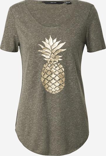 VERO MODA T-shirt 'LUA' en or / vert foncé, Vue avec produit
