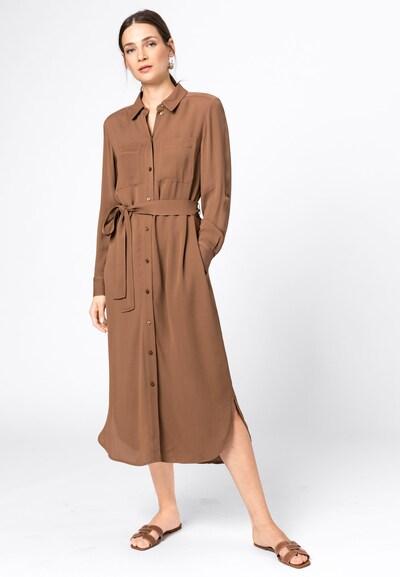 HALLHUBER Blusenkleid in braun, Modelansicht