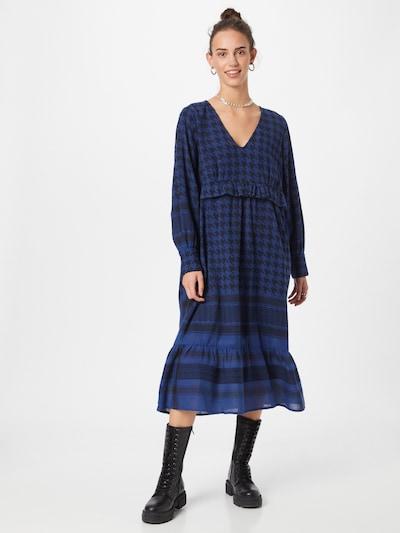 Cecilie Copenhagen Kleid 'Evelyn' in blau / schwarz, Modelansicht