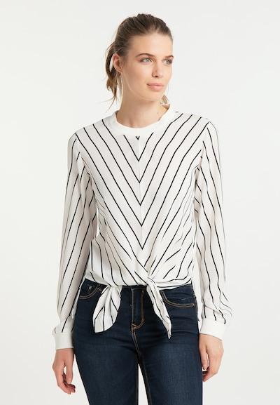 DreiMaster Maritim Bluse in schwarz / weiß, Modelansicht