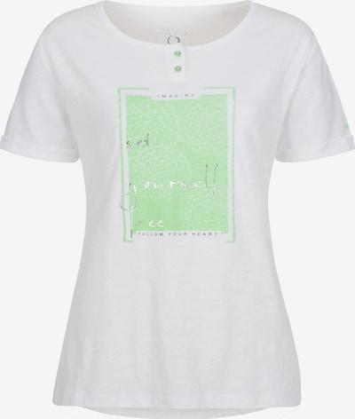 LPO T-Shirt 'Stina' in mint / schwarz / silber / weiß, Produktansicht