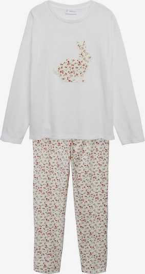 MANGO KIDS Pajamas 'Connie' in Gold / Jade / Red / Pearl white, Item view