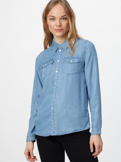 ABOUT YOU Chemisier 'Celina' en bleu clair, Vue avec modèle