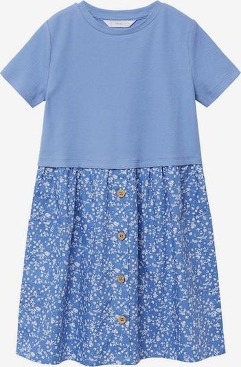 MANGO KIDS Kleid 'Berta8' in pastellblau / weiß, Produktansicht