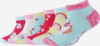 SKECHERS Sneakersocken 'Einhorn' in türkis / gelb / pink / rot, Produktansicht