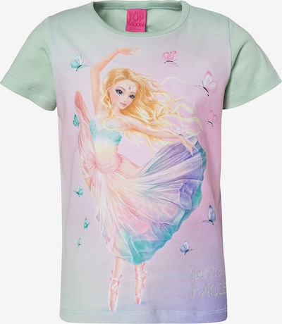 TOP MODEL Shirt in pastellgrün / flieder / rosa, Produktansicht