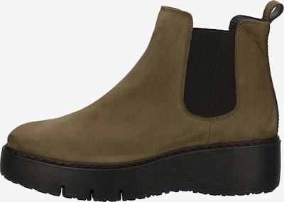 Paul Green Ankle Boots in oliv / schwarz, Produktansicht