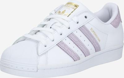 ADIDAS ORIGINALS Sneaker 'Superstar' in lavendel / naturweiß: Frontalansicht
