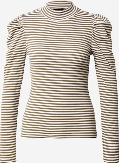 PIECES T-shirt 'ANNA' i oliv / vit, Produktvy