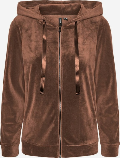 VERO MODA Zip-Up Hoodie in Dark brown, Item view