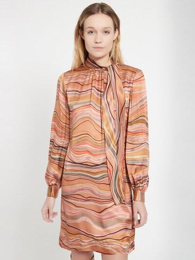 Ana Alcazar Kleid in hellblau / safran / rot / weiß, Modelansicht
