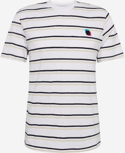 Only & Sons Тениска в екрю / кобалтово синьо / бяло: Изглед отпред
