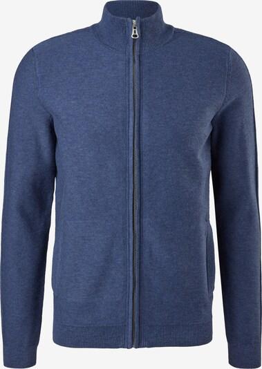 s.Oliver Gebreid vest in de kleur Blauw gemêleerd, Productweergave