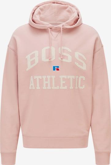 BOSS Casual Sweatshirt 'Safa Russell Athletic' in blau / rosa / rot / weiß, Produktansicht