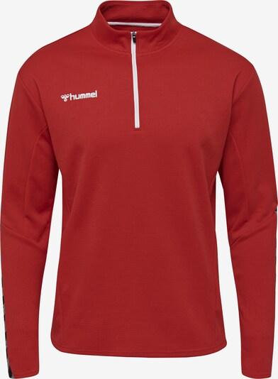Hummel Sweatshirt in grau / rot / schwarz: Frontalansicht