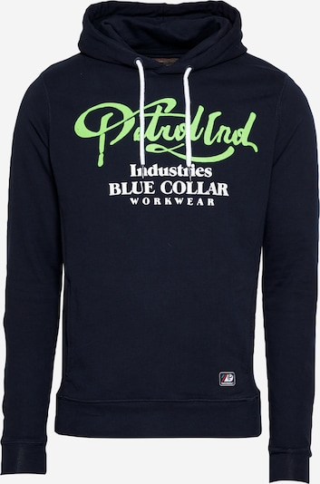 Petrol Industries Sweatshirt in de kleur Navy / Pastelgroen / Wit, Productweergave