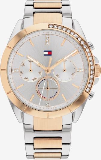 TOMMY HILFIGER Uhr in navy / rosegold / silbergrau / rot / weiß, Produktansicht