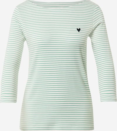 TOM TAILOR T-shirt en bleu nuit / menthe / blanc, Vue avec produit