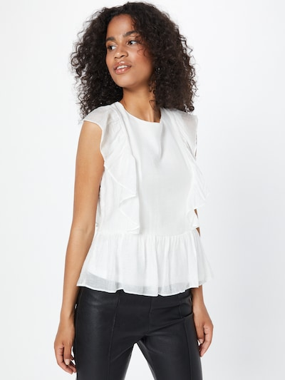 Bluză 'TIER' VILA pe alb, Vizualizare model