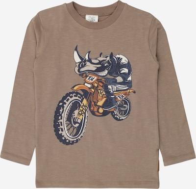 Hust & Claire T-Shirt 'Anton' en brun foncé / bleu violet / orange foncé / noir / blanc, Vue avec produit