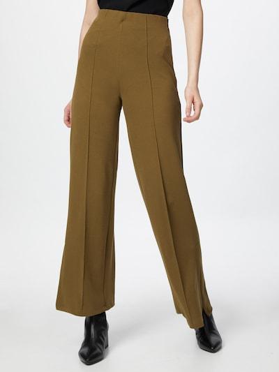 Pantaloni cu dungă Trendyol pe verde, Vizualizare model