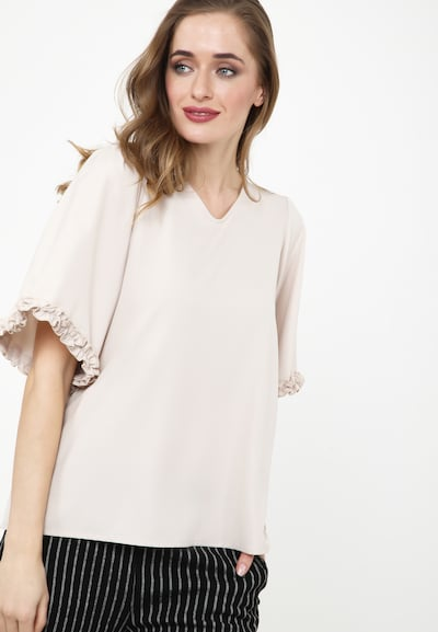 Madam-T Bluse 'Rossitta' in beige, Modelansicht