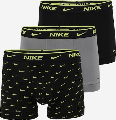 NIKE Sous-vêtements de sport en gris / citron vert / noir, Vue avec produit