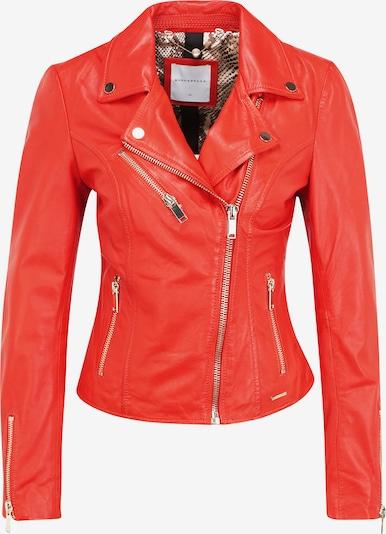 RINO & PELLE Leather biker jacket 'GHOST' in rot, Produktansicht