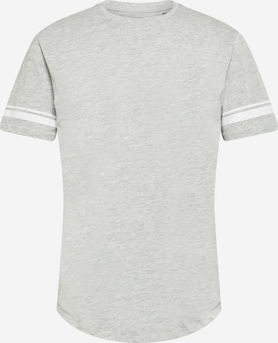 Only & Sons Тениска 'MATT' в светлосиво / бяло: Изглед отпред