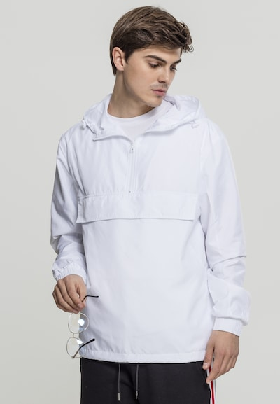 Urban Classics Tussenjas in de kleur Wit: Vooraanzicht