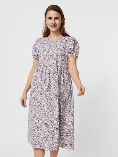 VERO MODA Kleid in lila / weiß, Modelansicht