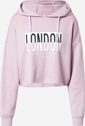 Felpa 'MILA' ONLY di colore rosa pastello / nero / bianco, Visualizzazione prodotti