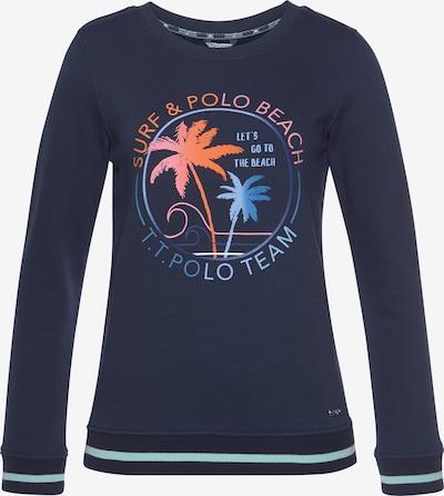 Tom Tailor Polo Team Sweatshirt in blau / navy / orange / rosa, Produktansicht