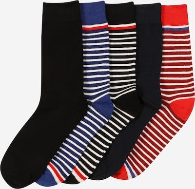 JACK & JONES Socken in nachtblau / royalblau / rot / weiß, Produktansicht