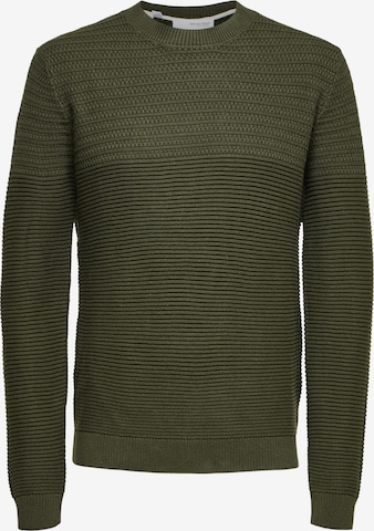 SELECTED HOMME Pullover 'Conrad' in Grün