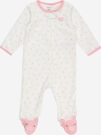 Carter's Strampler 'PIGGY' in elfenbein / grau / pink, Produktansicht