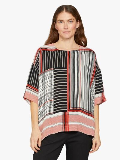 Masai Bluse in orange / rot / schwarz / weiß, Modelansicht